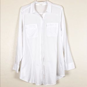 Eileen Fisher   White Organic Cotton Button Down